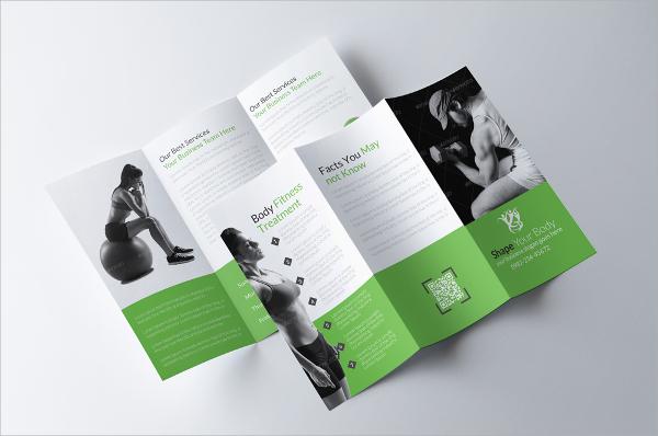 psd format fitness brochure
