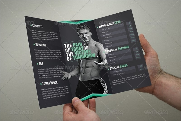 trifold fitness brochure