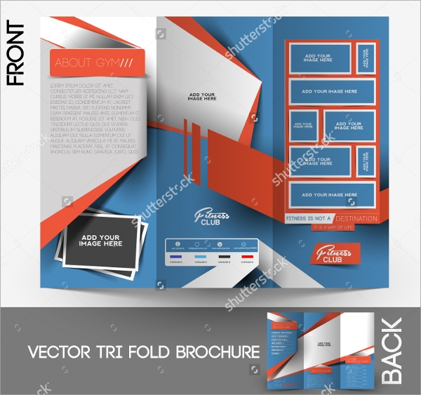 fitness brochure design