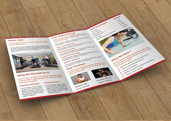 simple fitness brochure