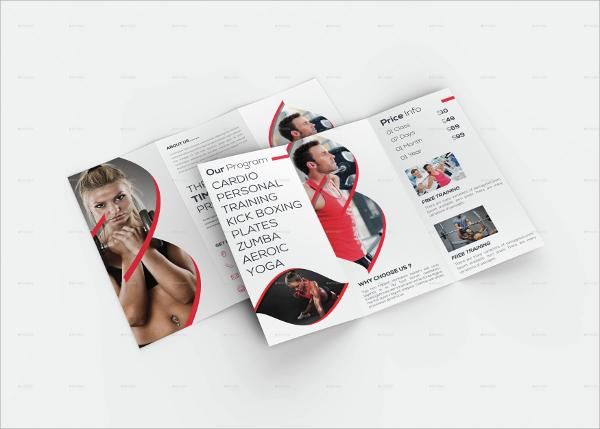editable fitness brochure