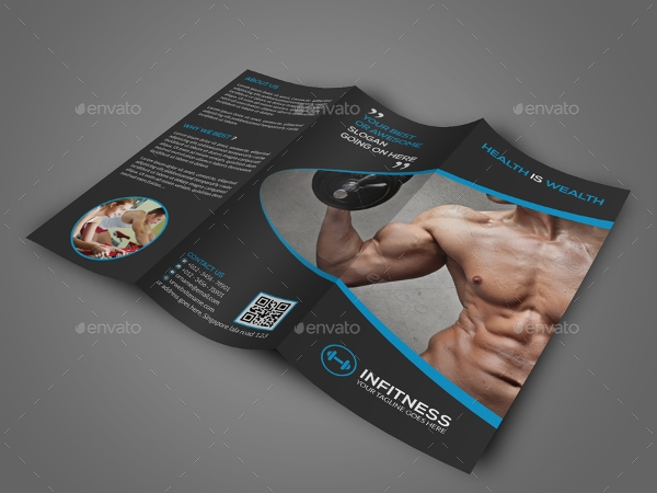 stylish fitness center brochure