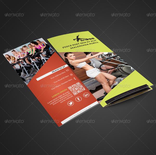 modern fitness center brochure