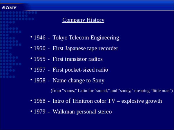 8 Company History Templates Sample Templates