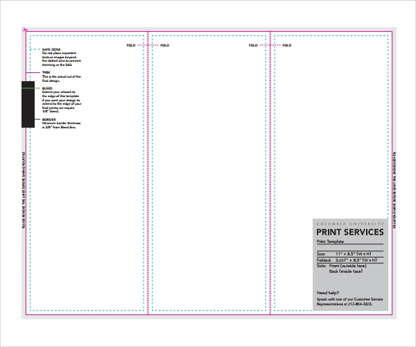 Sample Pamphlet Template   Documents Download In Pdf Psd
