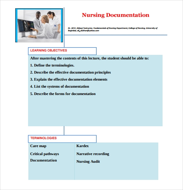 Sample Nursing Notes Template 7 Free