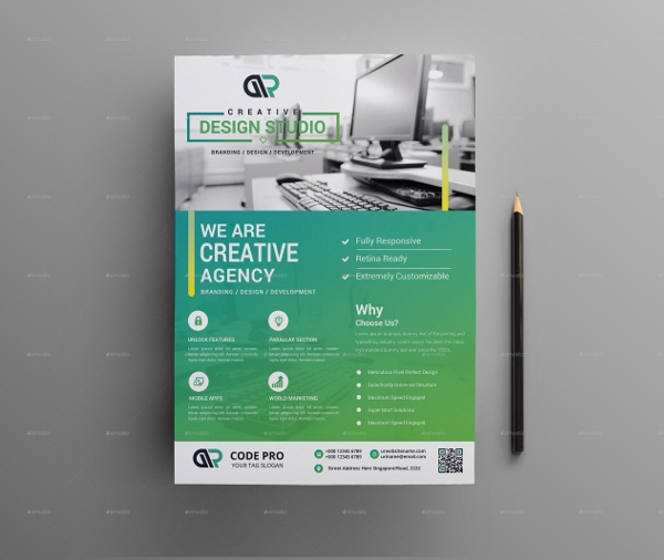 Web Flyer Templates  Psd Format Download
