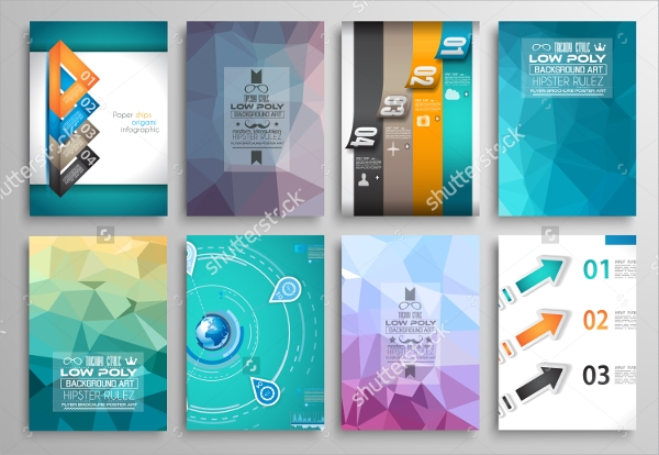 set of web flyer templates