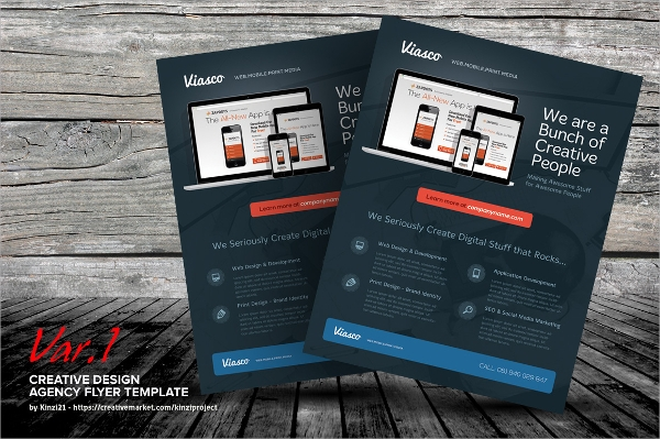 creative web flyer template