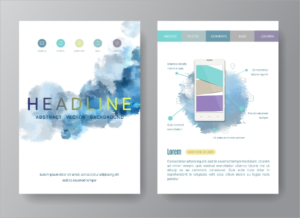 business web flyer template