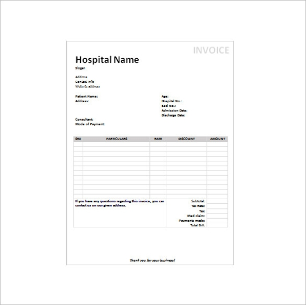 Sample doctors receipt template 16 free documents in for Ophthalmology exam template