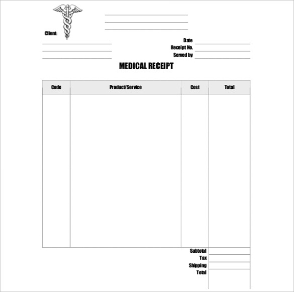 doctor medical receipt template