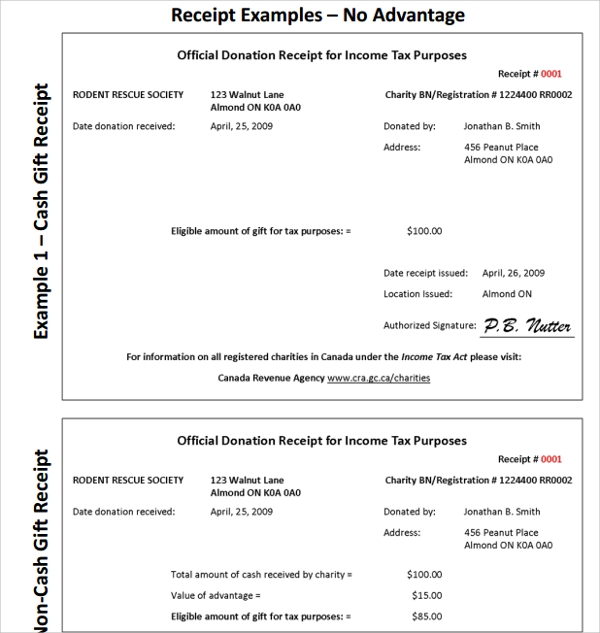 Sample Fundraiser Receipt Template 9 Free Documents in PDF Word – Sample Receipt Book