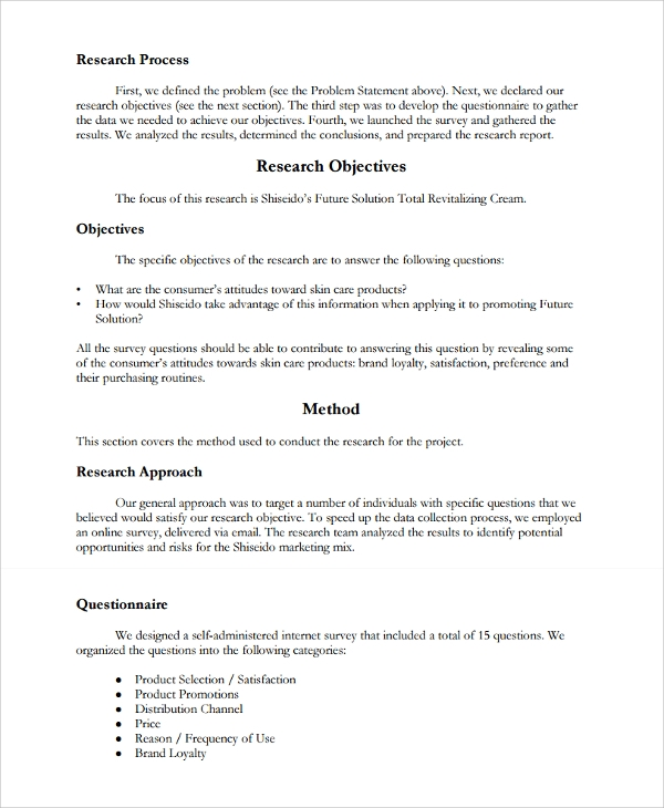 12+ Research Report Templates - Free Sample, Example, Format
