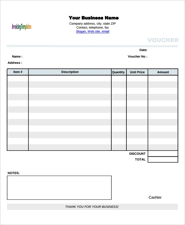 Sample Blank Voucher Template   Documents Download In Word