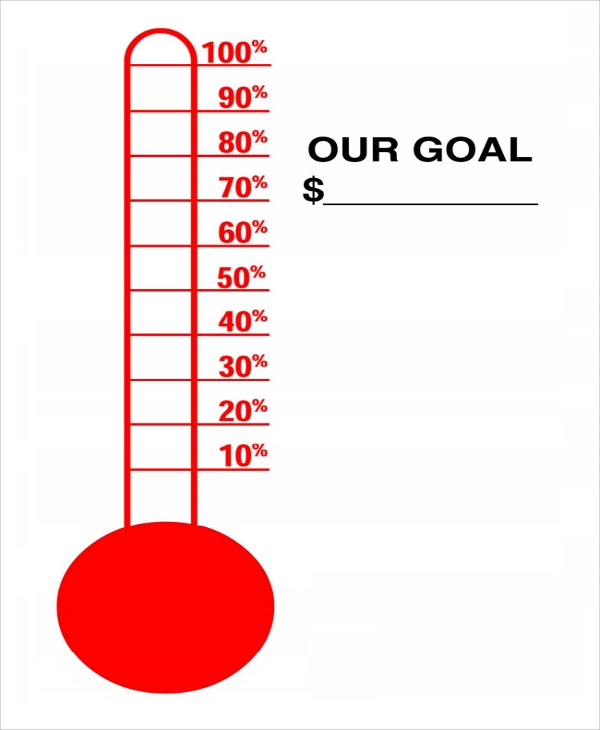 Insane image intended for printable goal thermometer