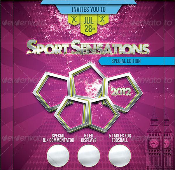 sport sensations flyer template