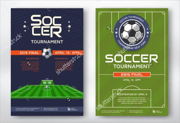 modern sports flyer template