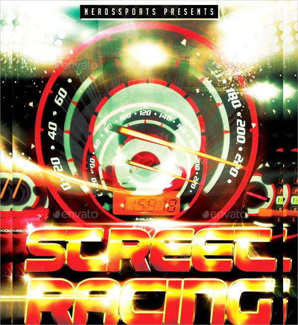 racing sports flyer template