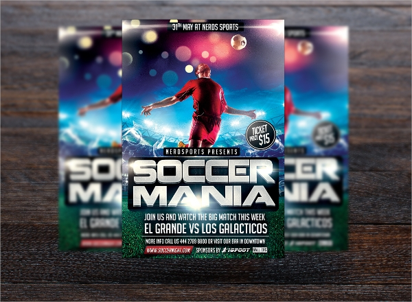 simple sports flyer template