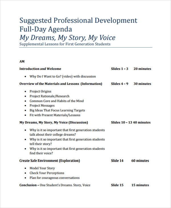 Formal Agenda Template Samples  Formal Agenda Format