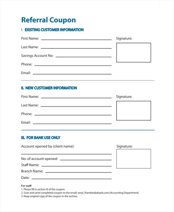 11 referral coupon templates sample templates for Referral document template