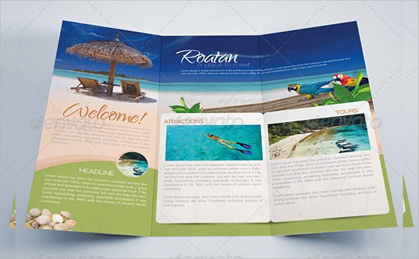 20 tourism brochure templates sample templates for Travel brochures templates