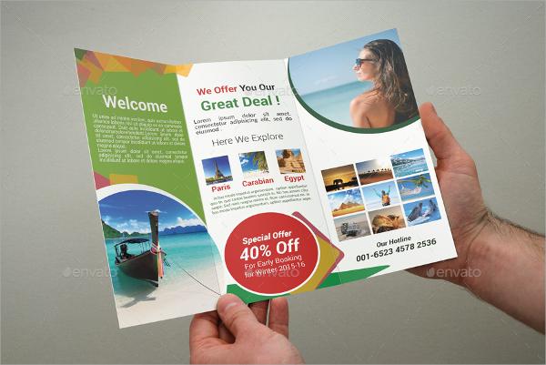photoshop psd tourism brochure