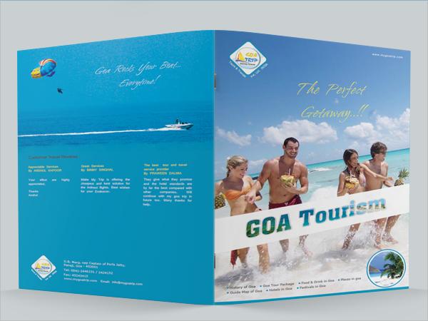 simple tourism brochure
