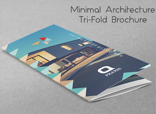 architecture trifold brochure template
