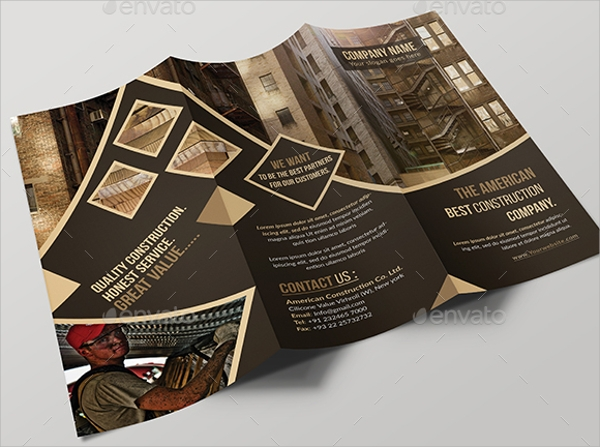 construction tri fold brochure