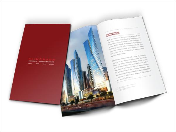 colorful architecture brochure