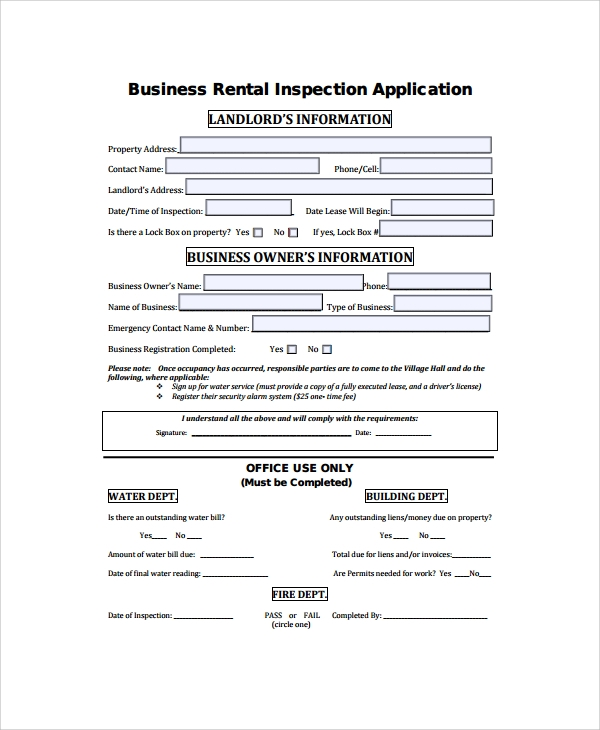 commission only contract template - 8 business rental agreement templates sample templates
