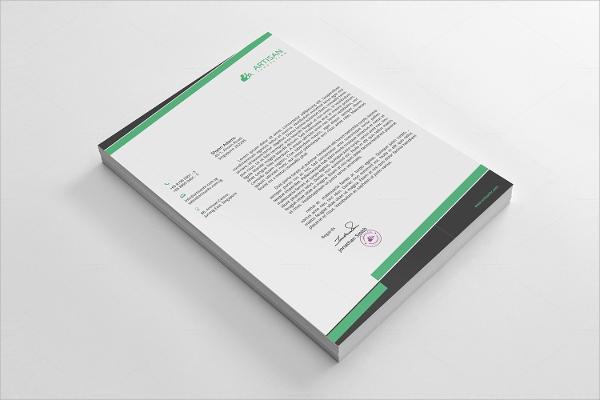 a4 paper size clean letterhead
