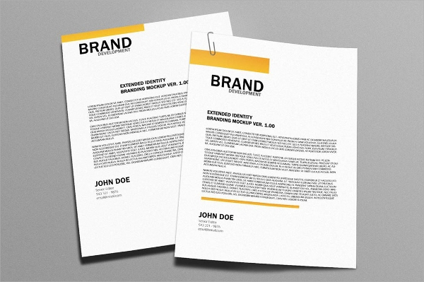 example of letterhead template