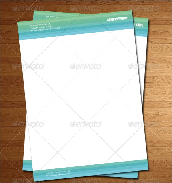 Psd Corporate Letterhead Template 000401: 21+ PSD Letterhead Templates