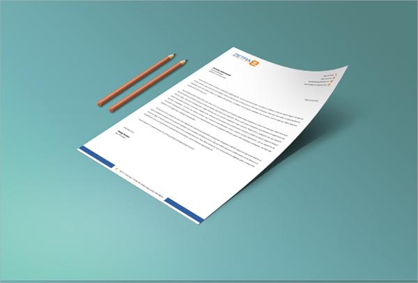 letterhead design psd template