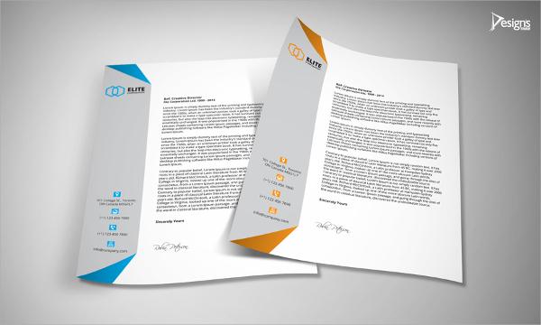 useful letterhead template design