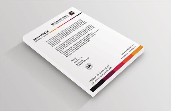 white letterhead design template