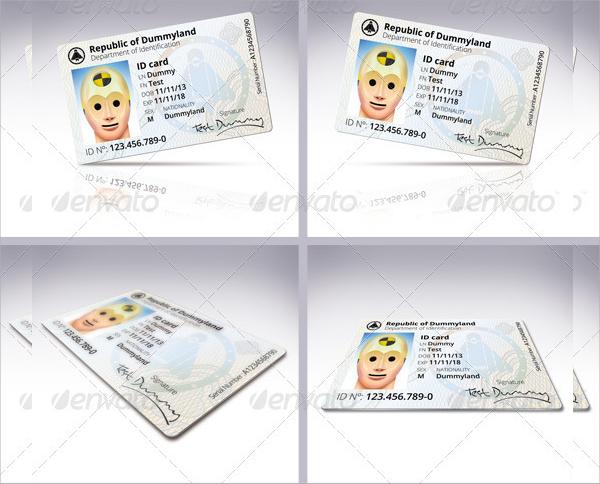 id card psd template design