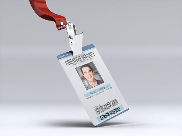 modern id card psd template