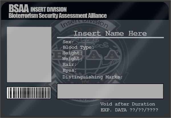identification card psd template
