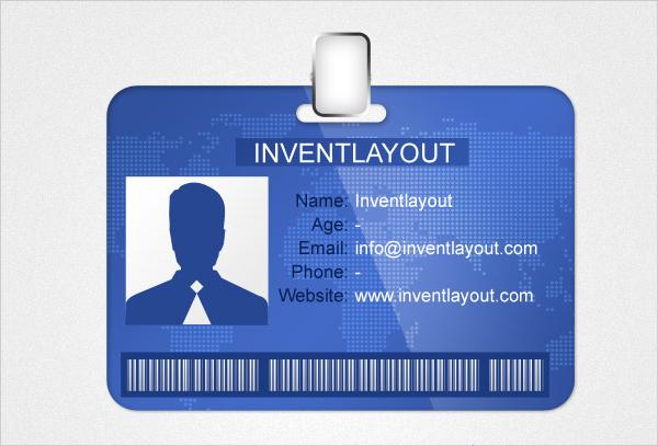 amazing id card psd template