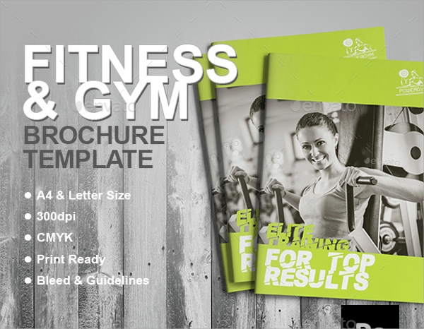 Fitness Brochure  Eps Psd Format Download