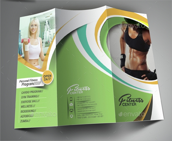 fitness center brochure template
