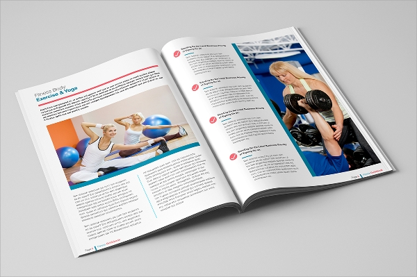 fitness guide brochure template