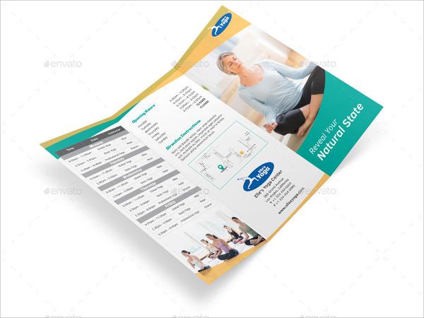 yoga zone fitness brochure template
