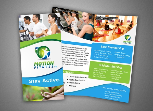 20 best fitness brochure templates sample templates for Gym brochure template