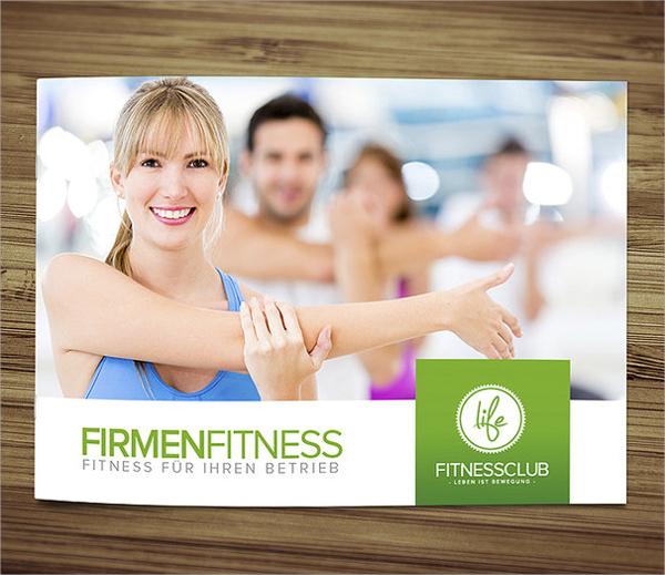 attractive fitness brochure template