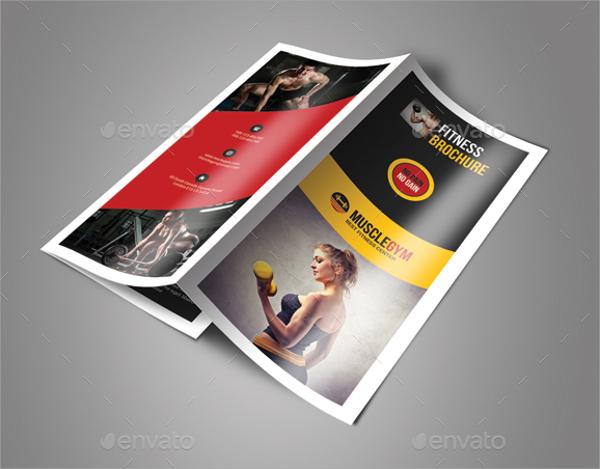 fitness trifold brochure bundle